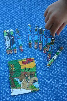 puzzle made from popcycle sticks and a picture. Kifli és levendula: Fagyispálcika-kirakós