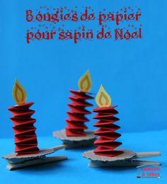Des bougies (en papier) à accrocher au sapin