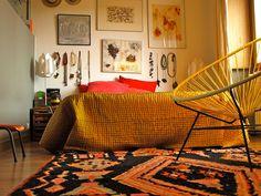 Artsy thrifty bedroom