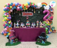 Trolls Birthday  ShowerBox Events 2018 For more photos visit our FB page www.myshowerbox.com SC ShowerBox Designs #myshowerbox #trollsbirthdayparty #trollsbirthday #trolls #secondbirthday #birthdaydecor #birthdaydecoration
