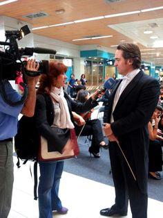 Fue genial recibir a la prensa hoy en el Intercambiador de Moncloa. Recibimos varias televisiones: EFE TV, Telemadrid, Repormadrid TV entre otras