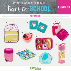 All the lunch containers you'll need for sending your child to preschool are here!