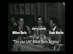 """ This is Your Life "" Milton Berle with Help From Dean Martin and Jerry Lewis - YouTube"