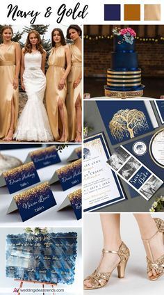 Navy Blue and Gold combo create a stunning yet classic elegance fall wedding colors. This rich autumn wedding color palette is glamorous, timeless, and create an amazing festive wedding vibe. Check out the best 4 navy blue November fall wedding color schemes from navy and orange for those of you who just refuse to say goodbye to summer, romantic navy and pink,and boho chic and rustic themed colors navy with burgundy for a fall-winter wedding that will make your wedding stand out.