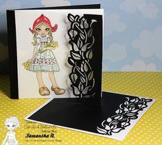 """Cute As A Button """"Wooden Shoes"""" & CraftsUPrint Tulip card on Acetate www.craftingcircle.com/Bloggit"""