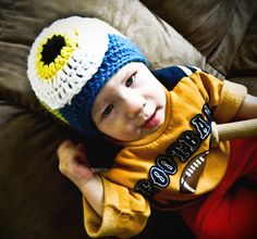 The Worsted Crochet Blog: FREE Halloween Monster Hat Pattern for Toddlers