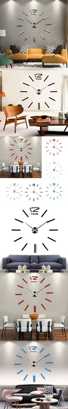 Fashion New Home Decor Wall Clock European Oversized Living Room Modern  Minimalist DIY Wall Art