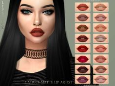 S lipstick - catrice matte lip artist the sims 4 cc Sims 4 Cc Eyes, Sims 4 Cc Skin, Sims Cc, Sims 4 Nails, Sims 4 Black Hair, The Sims 4 Packs, Sims 4 Gameplay, Sims 4 Cc Makeup, Sims4 Clothes