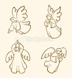 Angel Sketch Set 2 Royalty Free Stock Vector Art Illustration   ...I think I found my next tattoo!