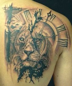 tattoo leon #clock #tattoo #clocktattoo #tatuaże #zegary