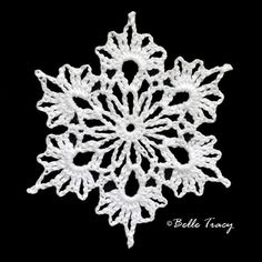 100 Free Crochet Snowflakes @ crochetreasures Crochet Snowflakes By Belle Tracy Make giant ones with yarn Free Crochet Snowflake Patterns, Christmas Crochet Patterns, Crochet Stars, Holiday Crochet, Crochet Snowflakes, Thread Crochet, Crochet Motif, Crochet Doilies, Crochet Flowers