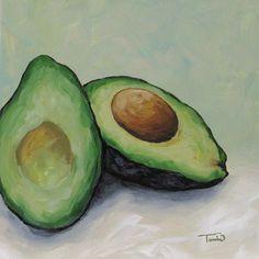 "Avocado  6"" x 6"" Original Painting by Torrie Smiley"