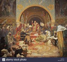 Stock Photo - The Bulgarian Tsar Simeon (The cycle The Slav Epic). Alphonse Mucha, Disney Marvel, Bulgarian, Art Deco, Poster, Stock Photos, Illustration, Artist, Pictures