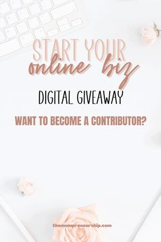 Start your online biz will be a digital giveaway for those who want to start their business and gets help from others by giving them a freebie to start with. If you want to participate in this giveaway as a contributor make sure you sign up here! #giveaway #bloggingtips #blogging #businesstips #listbuilding #startablog Online Entrepreneur, Entrepreneurship, Business Tips, How To Start A Blog, Giveaway, Blogging, How To Become, Give It To Me, Signs