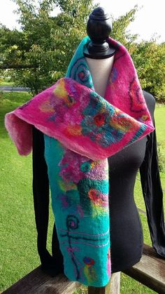 Nuno felted scarf by Kristin Hyde... SOLD