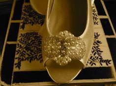 Custom Bridal Flat Open Peep Toe Shoe 1/2 Heel by LaBoutiqueBride, $92.00