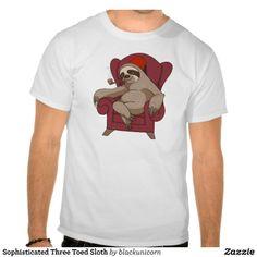 Sophisticated Three Toed Sloth Tshirt