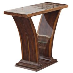 Art Deco Style Rosewood Console Table | From a unique collection of antique and modern console tables at https://www.1stdibs.com/furniture/tables/console-tables/
