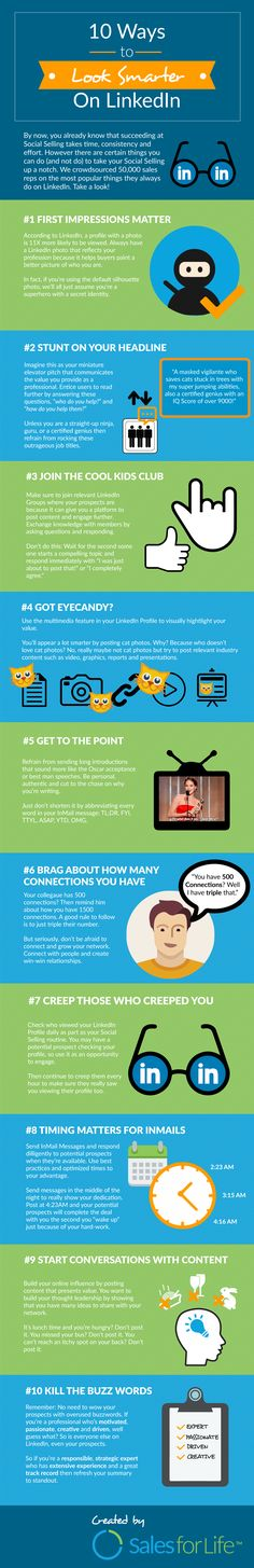 10 Ways To Look Smarter On LinkedIn #Infographic #LinkedIn