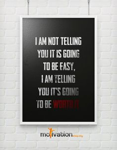 It is going to be worth it  - Motivational poster -  A3 ( 11.7 - 16.5 inches ) via Etsy