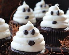 Halloween Party Treats- ghost cupcakes.  Maybe for Kate's school party treat