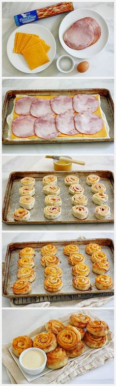 Ham and Cheese Pretzel Bites   Ingredients     1 can Pillsbury refrigerated thin crust pizza dough  1 package (8 ounce) sliced cheddar ch...