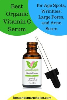 Best Organic Vitamin C Serum for Age Spots, Wrinkles, Large Pores, and Acne Scars Diy Vitamin C Serum, Home Beauty Tips, Beauty Hacks, Diy Beauty, Health Tips For Women, Health Advice, Health Care, Men Health, Health Diet