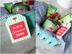Teacher gift basket