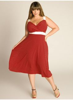 En Vogue Vintage Polka Dot Dress in Crimson is perfect for a summer day picnic! IGIGI by Yuliya Raquel. www.igigi.com