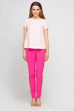 Blouse Models, Capri Pants, Spandex, Fancy, Sexy, Pink, Fashion, Capri Trousers, Moda
