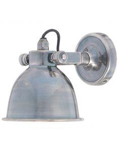 Unieke wandlamp, antiek zilveren spot klassiek, Stoerelampen.nl