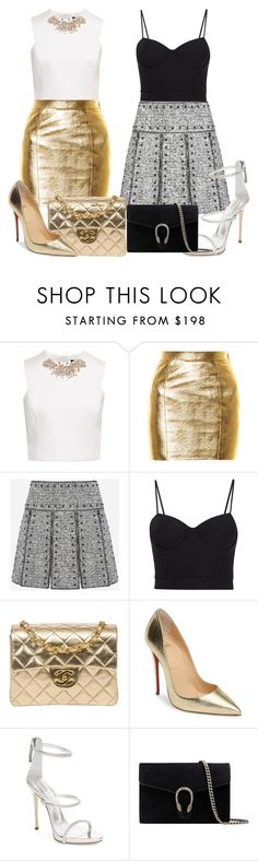 """Sin título #466"" by misvivi ❤ liked on Polyvore featuring Ted Baker, Yves Saint Laurent, Valentino, Alexander Wang, Chanel, Christian Louboutin, Giuseppe Zanotti and Gucci"