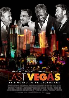 Last Vegas. Three sixty-something friends take a break from their day-to-day lives to throw a bachelor party in Las Vegas for their last remaining single pal.