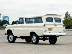 60s Suburban with 4WD conversion. Napco was the company doing the conversions back then i believe.