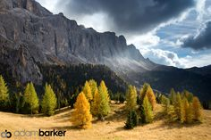 Late afternoon light near Passo Gardena, Italy by Adam Barker