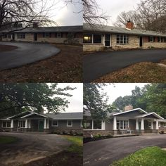 Before and after a ranch makeover. 2019 Before and after a ranch makeover. The post Before and after a ranch makeover. 2019 appeared first on House ideas. Ranch Exterior, Exterior Remodel, Exterior Homes, Garage Exterior, House With Porch, House Front, Home Renovation, Home Remodeling, Front Porch Addition