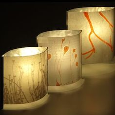Low Energy Contemporary Table Lamps With Customisable Paper Shades.  Supplied With Screws For Optional Wall