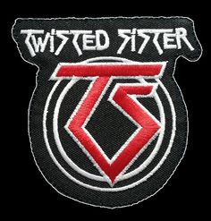 Twisted Sister Embroidered Iron On Badge Patch 3.5 by patchNbadge