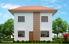Elisa – Four Bedroom Compact Two Storey House Design | Pinoy ePlans 2 Story House Design, Small House Design, Bed Design, Modern Bungalow House, Two Storey House, Ground Floor Plan, Built In Cabinets, Home Design Plans, Pinoy
