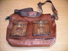 Brown messenger bag. Another great man bag!