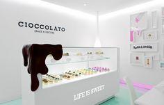 Beautiful Restaurant Interior Design: Cioccolato, a chocolate shop/bakery in Mexico City.