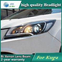 531.00$  Watch here - http://aliypz.worldwells.pw/go.php?t=32703001518 - Car Styling Head Lamp case for Ford Kuga 2013 Headlights LED Headlight DRL Lens Double Beam Bi-Xenon HID car Accessories