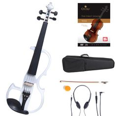 Buy Cecilio Acoustic Electric Ebony Fitted Violin ~Antique Varnish Black White CVNAE at online store Violin Bridge, Electric Cello, Violin Accessories, Violin Case, Violin Music, Guitar Photography, Cheap Guitars, Muscle Memory, Hip Hop Artists
