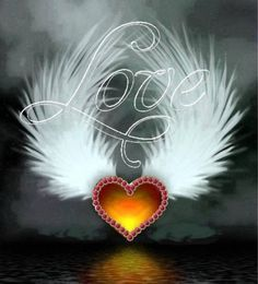 By Artist Unknown. Love Heart Images, Love You Images, Heart Pictures, I Love Heart, Love Pictures, Angel Wallpaper, Heart Wallpaper, Love Wallpaper, Wallpaper Backgrounds