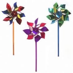 When I was a child, I got a new pinwheel every spring..they now decorate my garden with fond memories.