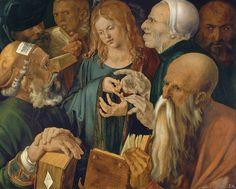 Daily artworks: Albrecht Dürer (1471 - 1528) Jesus among the Doctors (1506)