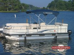 Custom PontoonBoat Striping Mvinyl Graphics And Decals Check - Decals for pontoon boats