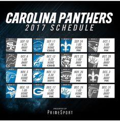 Carolina Panthers 2017 Schedule Pro Football Teams, Football Season, Panther Country, Carolina Panthers Football, Panther Nation, Sports Graphics, World Of Sports, American Football, Schedule