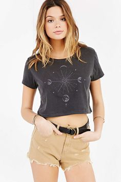 Truly Madly Deeply Moon Burst Cropped Tee