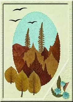 - Decoration World Autumn Crafts, Nature Crafts, Leaf Projects, Art Projects, Diy For Kids, Crafts For Kids, Leaf Crafts, Pressed Flower Art, Leaf Art